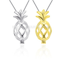 Latest 925 sterling silver Pineapple cage pendant