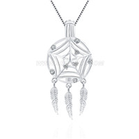 Newest 925 sterling silver Dream catcher locket pendent