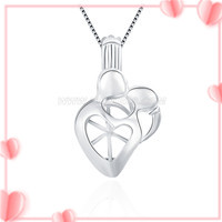 New design 925 sterling silver Kissing lovers cage pendant