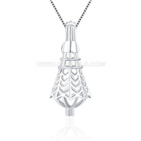 New design 925 sterling silver Badminton cage pendant