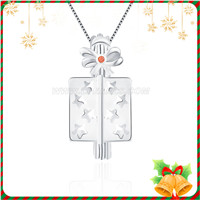 Christmas 925 sterling silver nice Gift box cage pendant