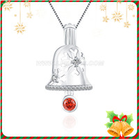 Christmas gift 925 sterling silver Christmas Bells cage pendant