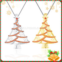 Christmas gift 925 sterling silver Christmas tree cage pendant