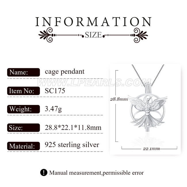Lovely theme 925 sterling silver mockingjay cage pendant lp pearl lovely theme 925 sterling silver mockingjay cage pendant mozeypictures Image collections