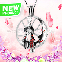 Sweet gift design 925 sterling silver Dating lovers cage pendant