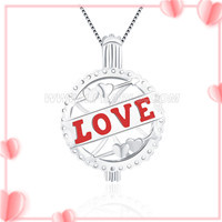 Romantic design 925 sterling silver Love ball cage pendant