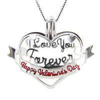 Sweet design 925 sterling silver Heart cage pendant