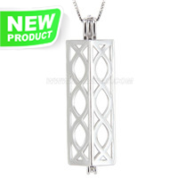 Latest 925 sterling silver Long shape cage pendant
