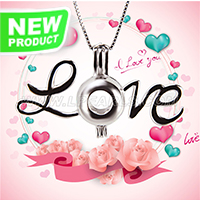 Latest 925 sterling silver Love cage pendant