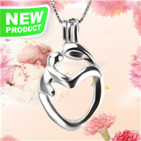 Special design 925 sterling silver Mother and kid cage pendant