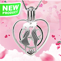 Latest 925 sterling silver Lovers cage pendant