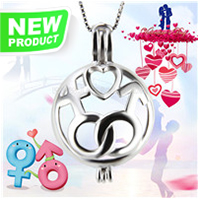 Fashion Valentine&#39s design 925 sterling silver cage pendant