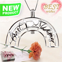 Latest 925 sterling silver Love Rainbow cage pendant