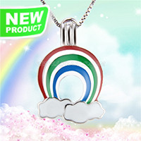 Fashion design 925 sterling silver Rainbow cage pendant