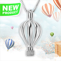 Latest 925 sterling silver hot-air balloon cage pendant