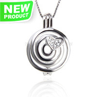 Attractive 925 sterling silver love heart cage pendant