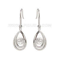 Fashion 925 sterling silver water drop earring fitting