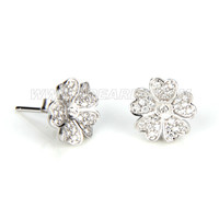 Fashion 925 sterling silver flower earring fitting