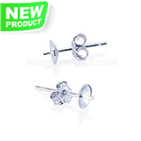 Latest 925 sterling silver simple earring fitting