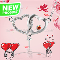 Valentine&#39s gift 925 sterling silver Cherish heart necklace m