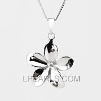 wholesale Peach Flower 925 silver pearl pendant accessories