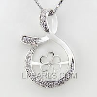 wholesale Mysterious Mark 925 silver pearl pendant accessories