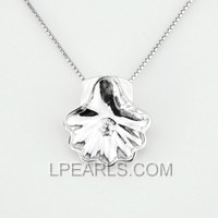 clam shell shape sterling silver pendant accessory