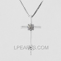 wholesale Cross 925 silver pearl pendant accessories