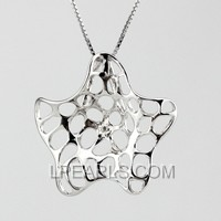 wholesale Starfish 925 silver pearl pendant accessories