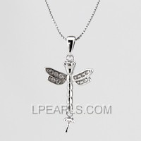 925 sterling silver dragonfly shape pendant accessory