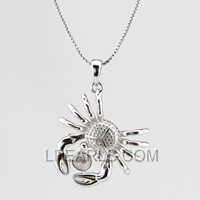 925 sterling silver crab shape pendant accessory