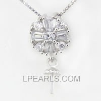 wholesale Round 925 silver pearl pendant accessories