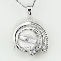 wholesale Round 925 sterling silver pendant accessories