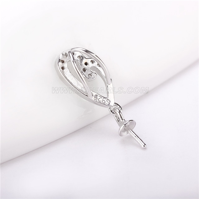 wholesale leaf 925 sterling silver necklace 19 inch