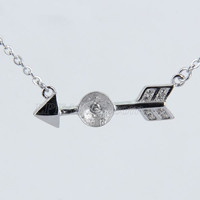 wholesale 925 sterling silver sword pearl pendant necklace fitti