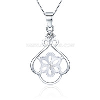 Fashion women 925 sterling silver pearl pendant mounting lp pearl fashion women 925 sterling silver pearl pendant mounting aloadofball Image collections