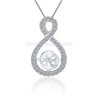Fashion women 925 sterling silver twisted pendant mounting