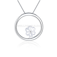 Wholesale 925 sterling silver round pendant mounting