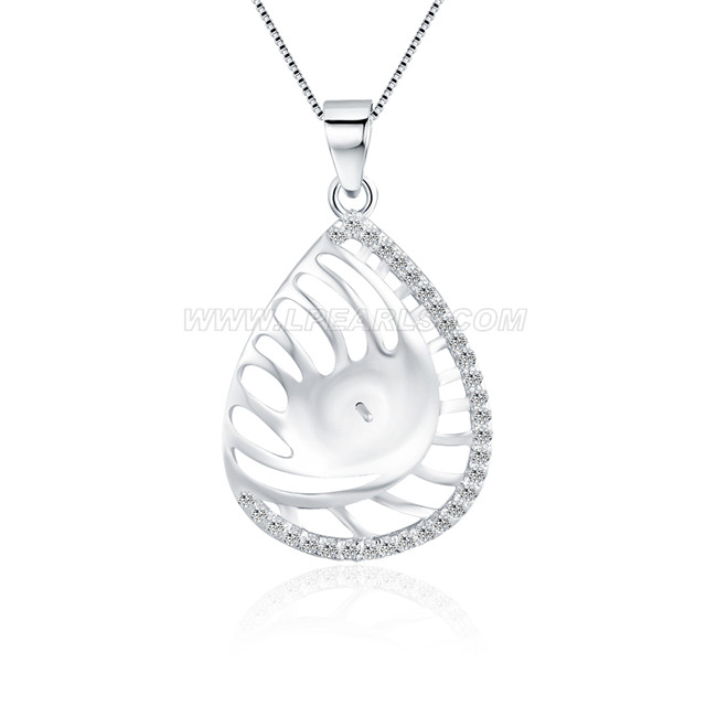 Romantic 925 sterling silver waterdrop pendant mounting