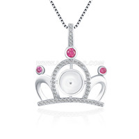 925 sterling silver elegant women CROWN pendant fitting