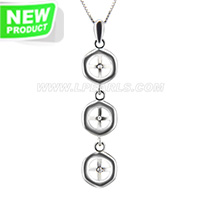 Fashionable sterling silver simple design pearl pendant necklace