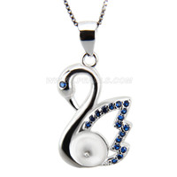 New sterling silver Swan pearl pendant necklace mounting