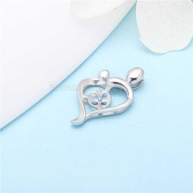 Popular sterling silver mother and kid pearl pendant mounting lp popular sterling silver mother and kid pearl pendant mounting aloadofball Image collections