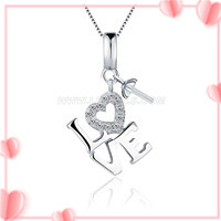 Love design romantic 925 sterling silver pendant mounting