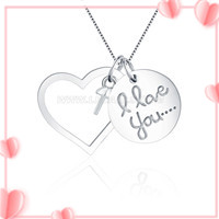 Hot I love you 925 sterling silver women pendant mounting