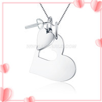 Romantic heart shape 925 sterling silver pendant mounting
