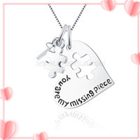 You are my missing pieces 925 sterling silver pendant mounting