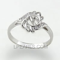 wholesale 925 silver pearl ring in US size 7 accessory