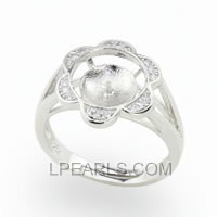 925 sterling silver pearl ring fitting wholesale