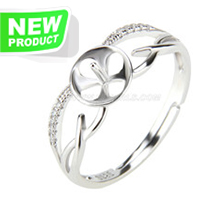 Fashion style 925 sterling silver adjustable simple rings access